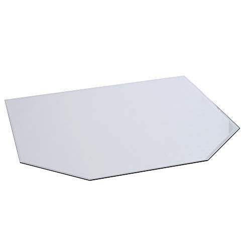 FIREFIX 1952/5 Glasbodenplatte (Hitzeschutz Ofen), Sechseck-Bodenplatte (1.200 x 1.200 x 900 mm), 8 mm Starkes Klarglas (Sicherheitsglas ESG) mit Facettenschliff (20 mm, umlaufend), Transparent