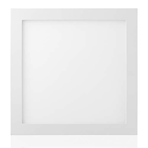 LED Square Panel Flush Mount Ceiling Light Fixture, MYTH REALM 9 inch Dimmable 18W 3 Color Temperatures (3000/4000/5000K), Edge-Lit Drop Troffer Design for for Kitchen, Dining Room, Garage