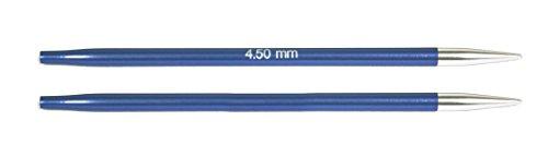 Agujas de Coser Circulares, Intercambiables, Normales, Zing, de KnitPro, Aluminio, 4,5 mm