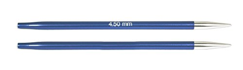 KnitPro wechselbare Nadelspitzen ZING lang, 4,50mm Rundstricknadel, Aluminium, Iolite blau, 12.5 x 0.45 x 0.45 cm, 2-Einheiten