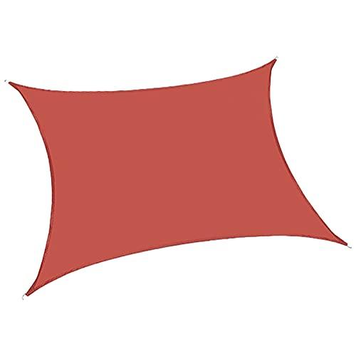 NANSHEN Schatten-Segel-Home-Nutzung Außenheizdämmung Netting verschlüsselter Single-Layer-Schatten-Netting-Außenschatten-Netzverpackung kann angepasst Werden Rust red-3.6X3.6M