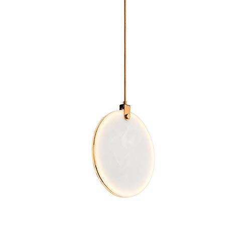 LED Interior Moderno Luces Colgantes Resina Redonda Imitación Mármol Lámpara Colgante Φ30CM Blanca Candelabro Planchar Lámpara Dnoche Sala Estar Dormitorio Comedor Cafetería