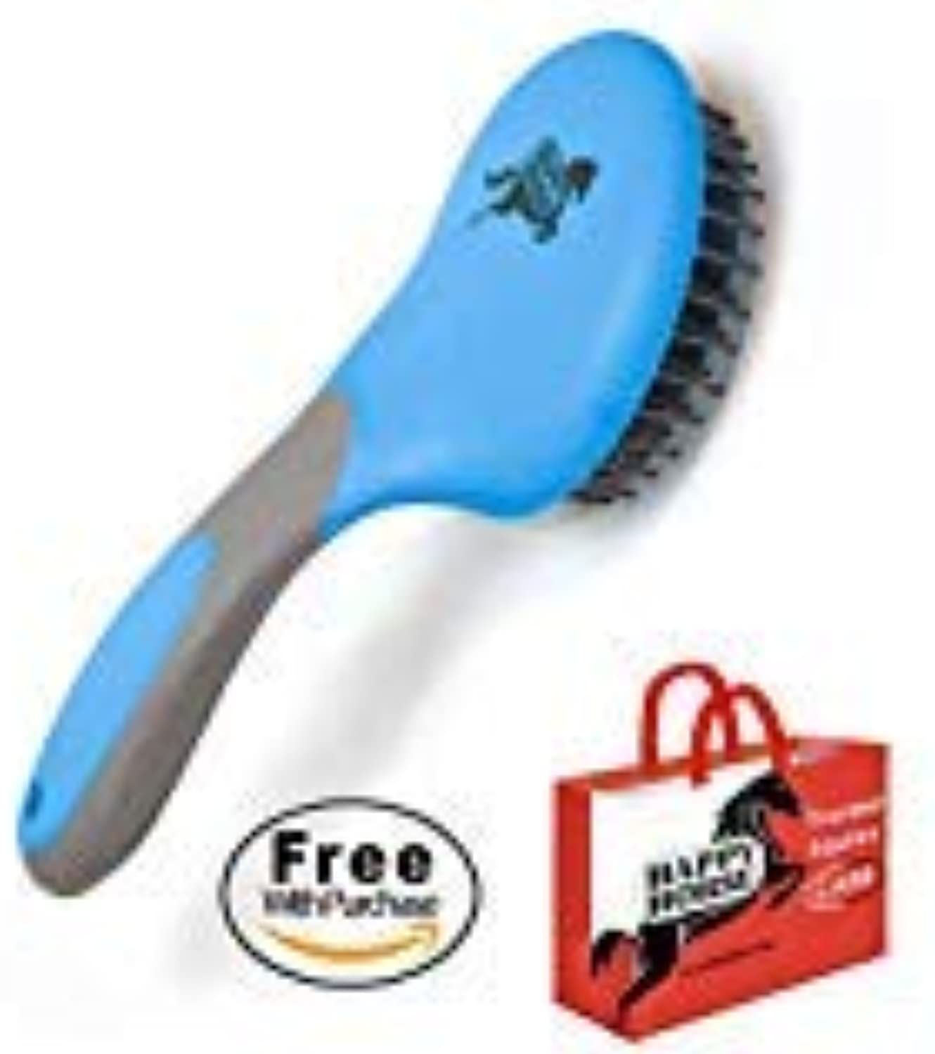 HARRIS FAMOUS ROACH TABLETS Happy Horse Mane & Tail Brush for Horses and Dogs, bluee