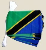 Wimpelkette mit Tansania-Flagge, Polyester, 6 m