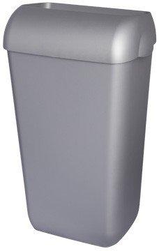 Blanc HYGIENIC • Abfallbehälter • Stabiler 25L Mülleimer • Mit Wandhalterung oder Freistehend montierbar