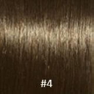 Virgin V-Tip Brazilian Natural Curly Hair,#4 Medium Brown,12 Inch