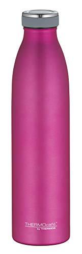 ThermoCafé by THERMOS 4067.244.075 Thermosflasche TC Bottle, Edelstahl Mat Pink 0,75 Liter, 12 Stunden heiß, 24 Stunden kalt, BPA-Free