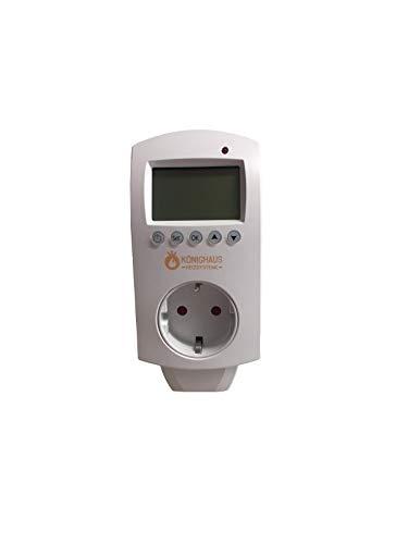 Könighaus thermostaat en app met Smart Home-oplossing – temperatuur en programmering via de app voor mobiele telefoon bestuurbaar.