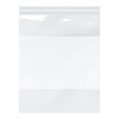 Plymor Zipper Reclosable Plastic Bags w/White Block, 2 Mil, 12″ x 15″ (Pack of 100)