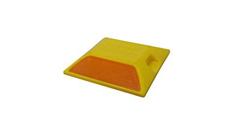 道路縁石鋲 セーフレーン 10枚セット 黄色