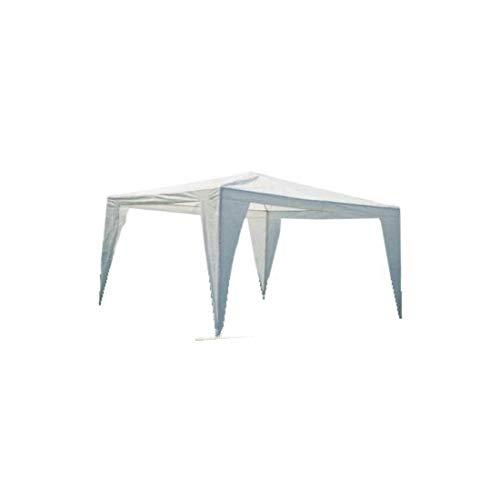 GrecoShop Gazebo Pieghevole Impermeabile in Alluminio 3x3m Verde/Blu/Bianco/Giallo Ocra