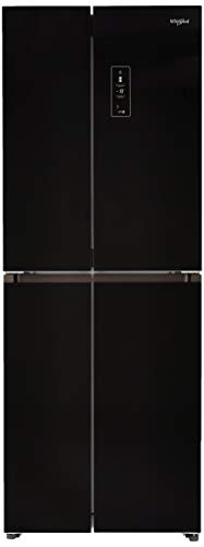 Whirlpool 406 L Inverter Frost-Free Multi-Door Refrigerator (WS QUATRO 460 CRYSTAL BLACK, Crystal Black)