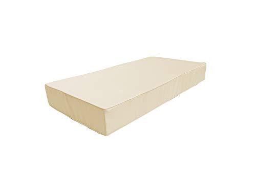 cojín para palets Impermeable con Ribete Decorativo sofá de Patio cojín para Muebles de jardín Funda Extraible (Asiento 120 x 80 x 15, Crema)
