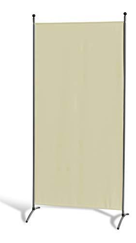 GRASEKAMP Qualität seit 1972 Stellwand 85 x 180 cm - Beige - Paravent Raumteiler Trennwand Sichtschutz