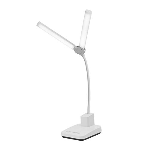 ASZX Lámpara de Mesa LED con Control táctil con 3 temperaturas de Color, lámpara de Escritorio con alimentación USB para el Trabajo, Sala de Estudio, Oficina