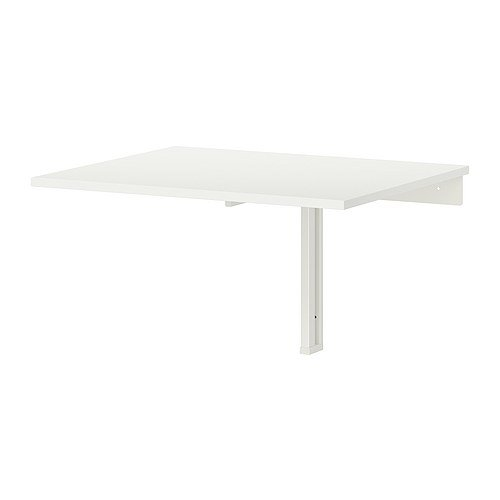 Ikea Wall-mounted drop-leaf table, white 824.26217.218