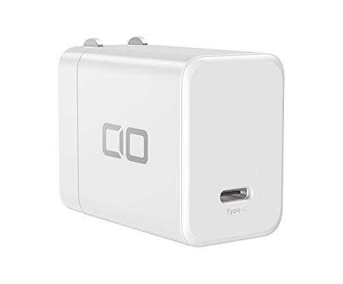 CIO USB PD 65W 急速充電器 GaN(窒化ガリウム)採用【世界最小級】 Type-C ACアダプター Macbook CIO-G65W1C-WH (白)