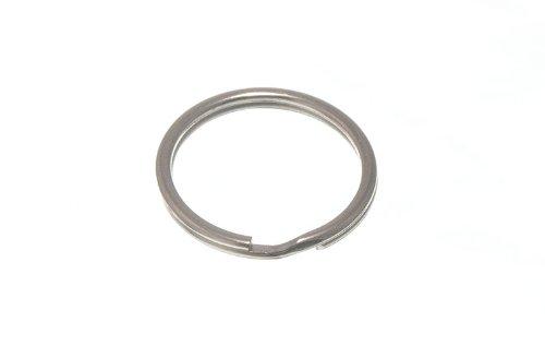 Lot de 100 anneaux fendus clés 19mm 3/4 po en acier nickelé