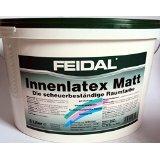 Feidal Latexfarbe matt , weiss / schneeweiss / 5 L / für stark beanspruchte Flächen / Malerqualität vom Fachmann'