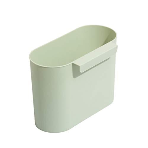 YARNOW Hangende Prullenbak Keuken Afvalbak Onder Gootsteen Boven Kastdeur Vuilcontainer Plastic Emmer Voor Thuis Auto Kantoor Groen