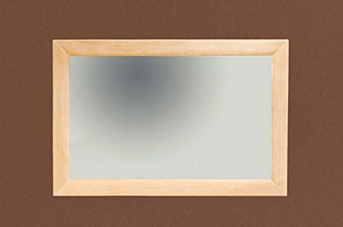 casamia Specchio da parete, 120 x 80 cm, con telaio in legno massiccio, in pino massiccio, colore:...