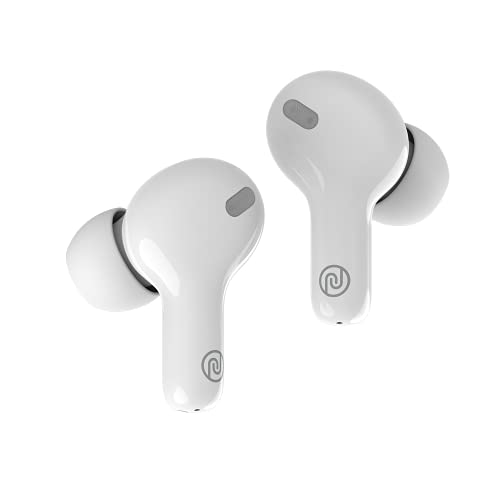 Noise Air Buds+ Truly Wireless Earbuds with Instacharge Technology, Silicone tip, Superb Calling & 20 Hour Playtime - Pearl White