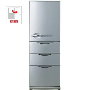 サンヨー 355L 4ドア ノンフロン冷蔵庫(ヘアラインシルバー)SANYO SR-361U-S