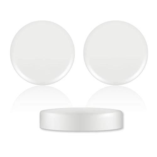 Tapas de plastico ajustables para vasos de yogurt/Pack 24 tapas para tarro...