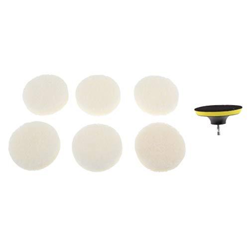 LOVIVER Power Scrub Brush Taladro Cepillo para Baño Kit de Cepillo de Ducha con 6 Almohadillas Blancas