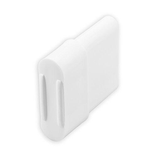 DIWARO® Endstabgleiter | Größe 20mm x 14mm | Farbe braun, grau oder weiß | Material Kunststoff | für Endleiste, Endschiene, Winkelendschiene | Rolladenpanzer, Jalousie, Rollo (weiß)