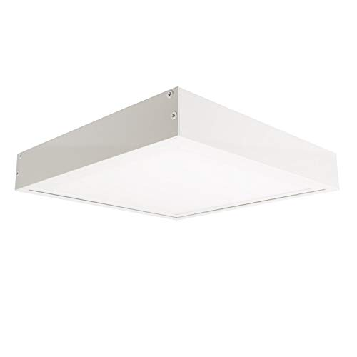 LEDKIA LIGHTING Panel LED Slim 60x60cm 40W 3600lm + Kit de Superficie Blanco Cálido 2800K...