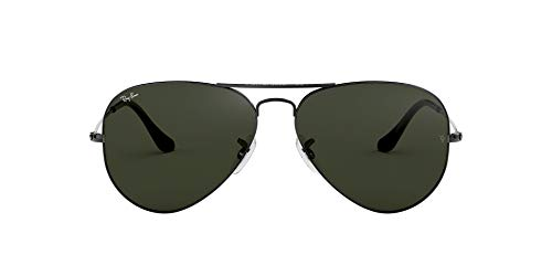 RB3025 Aviator Classic Sunglasses, Gunmetal/Grey/Green, 58 mm
