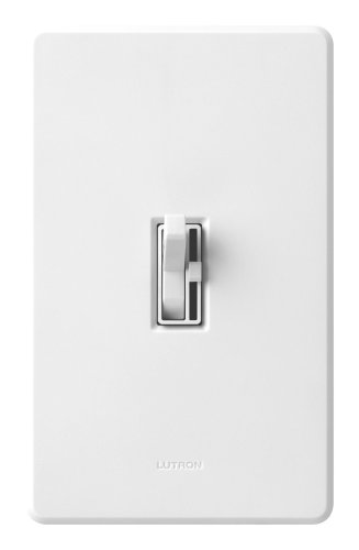 Lutron TG-600PNLH-WH Toggler 600W Preset Dimmer with Nightlight White