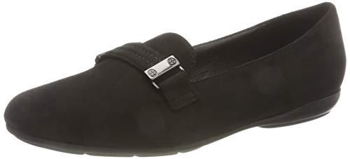 Geox Womens D ANNYTAH A Loafer Flat, Black,38.5 EU