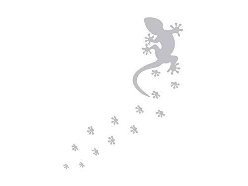GRAZDesign Fenstertattoo Gecko, Reptil mit Tatzen Abdrücke, Fensteraufkleber für Bad, Glastattoo für Dusche / 63x50cm
