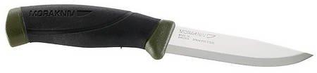 Mora-Messer, Companion MG, rostfreier Sandvik-Stahl 12C27, zweifarbiger Gummigriff, Kunststoffscheide mit Gürtelclip