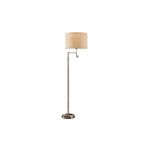 CLJ-LJ Lámpara de pie ajustable de metal para salón, dormitorio, estudio, 158 x 25 cm