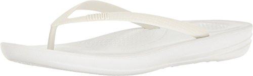 Fitflop Women's iQushion Ergonomic Toe Thong Sandals Flip Flops, Urban White, 7