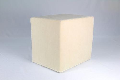 Fränkische Schlafmanufaktur Stufenlagerungswürfel, Bandscheibenwürfel, Lagerungswürfel, mit Microfaserbezug, ca. 50x45x40 Farbe Creme