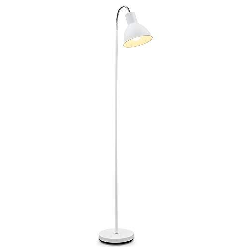 B.K.Licht Lámpara de pie diseño I Ajustable cuello flexible I Bombilla E27 máx. 25 W (excl.) I Altura 1,45m I Métalica I Para salón, dormitorio y estudio