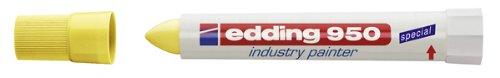 Edding 239191 - Marcador permanente de cera, color amarillo
