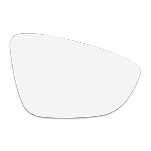 X AUTOHAUX Mirror Glass Heated with Backing Plate Passenger Side Right Side Rear View Mirror Glass for Volkswagen Passat