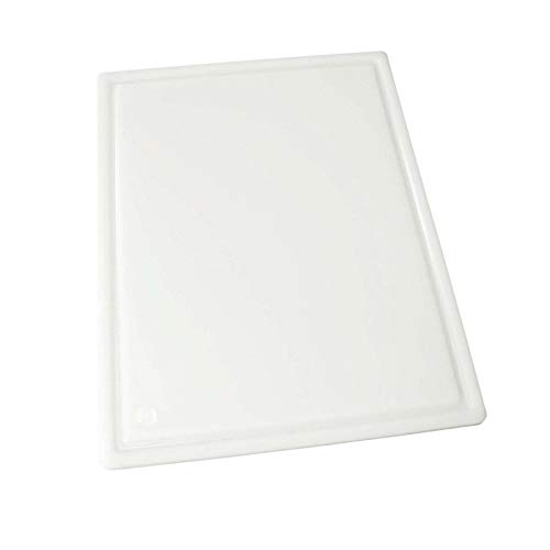 Winco CBI-1520 Grooved Cutting Board, 15-Inch by 20-Inch by 1/2-Inch, White,Medium