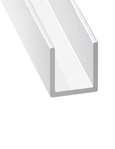 Jardin202 - Perfil de Aluminio Blanco en U - x3 unds - 2'10m