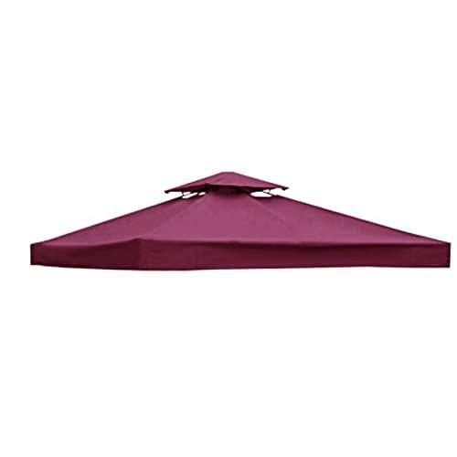 Tettoia di ricambio, copertura per gazebo Copertura per tenda da esterno 3x3m impermeabile di ricambio, griglia per barbecue Gazebo da tetto Gazebo da giardino Patio esterno Tenda da sole