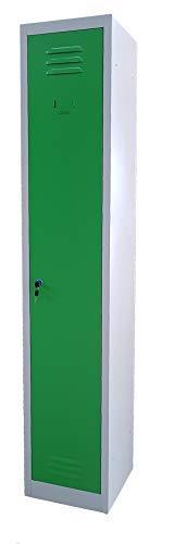 F&T Umkleidespind Metallspind Garderobenspind Spind Modularer 30x30x180H (Grun)