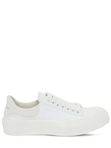 Alexander McQueen Plimsoll White Sneakers/Authentic SS21 (Numeric_10_Point_5)