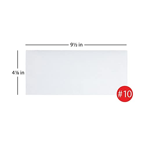 Office Depot All-Purpose Envelopes, 10 (4 1/8in. x 9 1/2in.), White, Box of 500, 12010 Photo #3