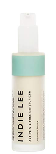 Indie Lee Active Oil-Free Moisturizer - Hydrating Vitamin C Cream with Antioxidants to Help Brighten + Smooth Dry, Aging Skin for a Luminous Glow - No Synthetic Fragrance, Natural Scent (1.7oz / 50ml)