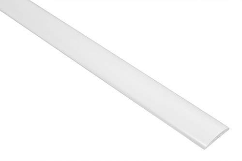 2 Metri PVC Piano BAR Plastica Profilo Piatto Liscio Antiurto 5x19mm, F06